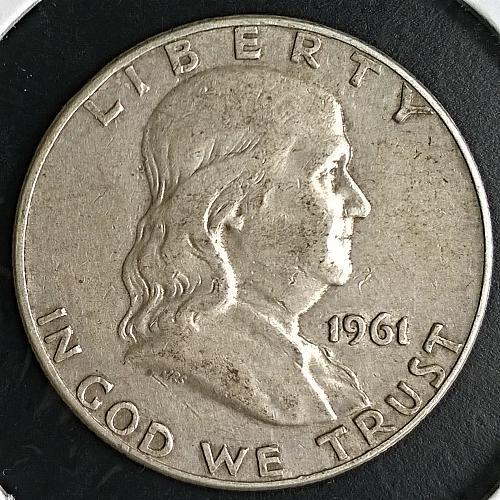 1961 D Franklin Half Dollar - 6 Photos!
