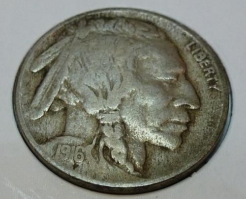 1916-P  Full Very Fine Buffalo Nickel ( 4307)