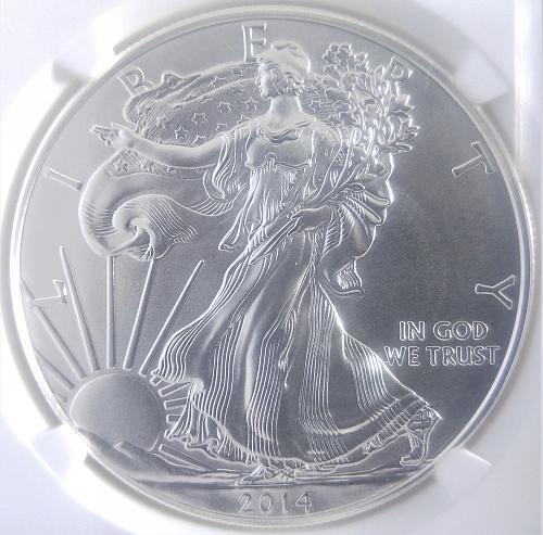 2014 W American Silver Eagle Bullion Coins: Proof