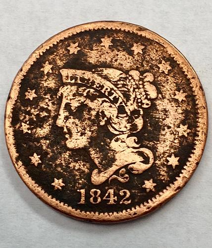 1842 Braided Hair Liberty Head Large Cent - Large Date