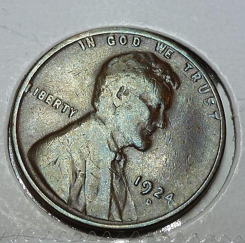 1924-D Very Fine Lincoln Wheat Cent ( # 4126)