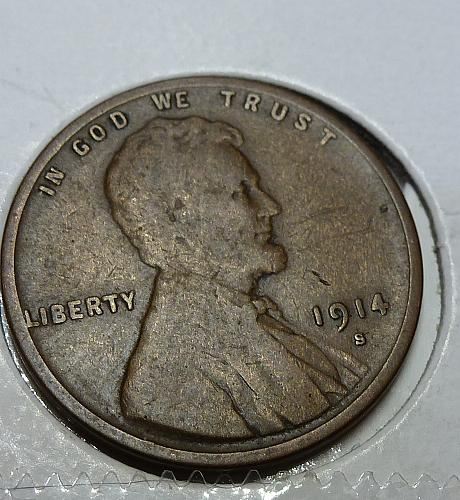 1914-S Good Lincoln Wheat Cent ( # 4116)