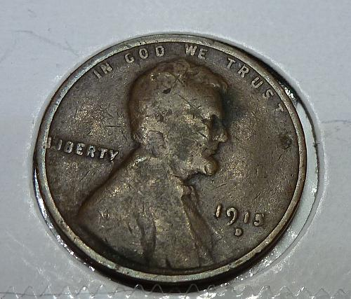 1915-D Very Good Lincoln Wheat Cent ( # 4118)