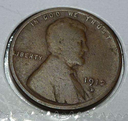 1912-D Very Good Lincoln Wheat Cent ( # 4107)