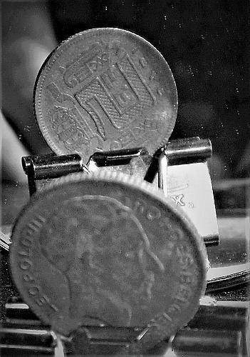 Belgium 1946 5 Franc    Reverse Die Rotation  #0022