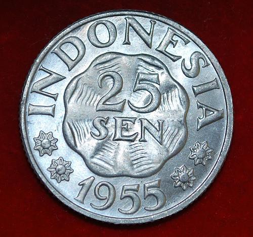 indonesia 25 sen 1955
