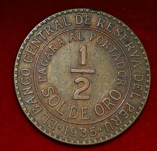 Peru 1/2 sol 1935