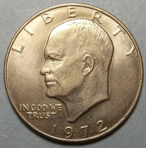 1972 D Eisenhower Dollar Lot JEn2P
