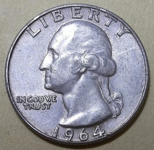 1964 D Washington Quarter Lot JUQ32e