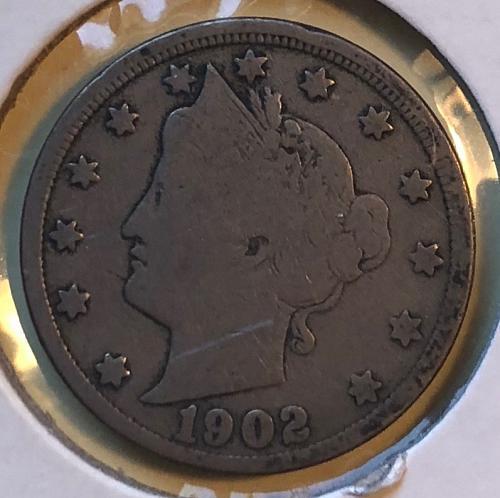 1902 P Liberty Nickels