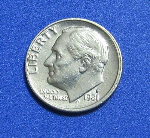 1981-P 10 Cents - Roosevelt Dime