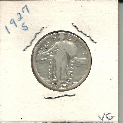 1927  S   STANDING LIBERTY QUARTER