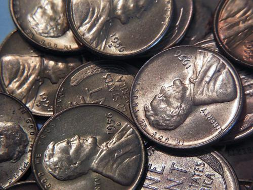 Large Lot of BU Lincoln Wheat Cents Group Consists of *124* mid to late 50's P&D