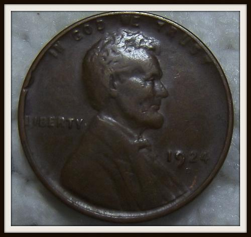 1924-D 1C Brown Lincoln Wheat Cent (VF)