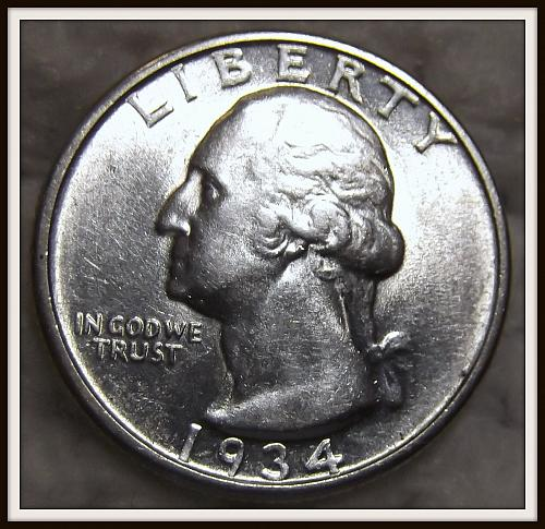 1934 25C Washington Silver Quarter (AU)