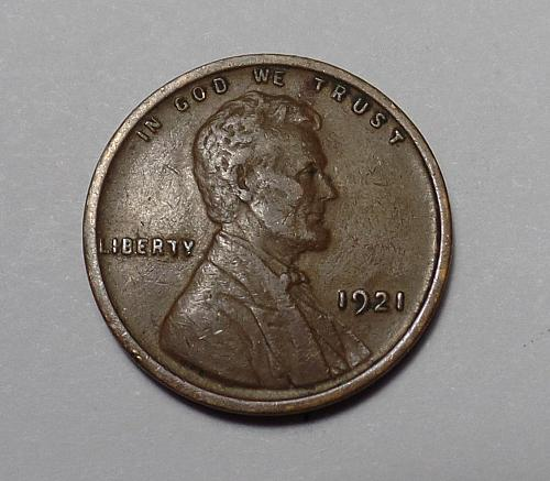 1921 P Lincoln Wheat Cent d11