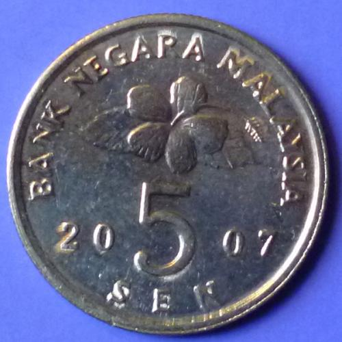 Malaysia 5 Cents 2007 km 50