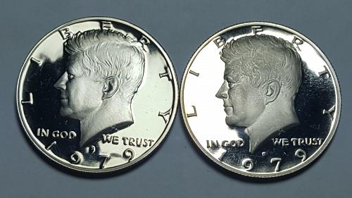 1979-S KENNEDY HALF DOLLAR Type 1 Filled 'S' PROOF DEEP CAMEO 2 COIN SETS