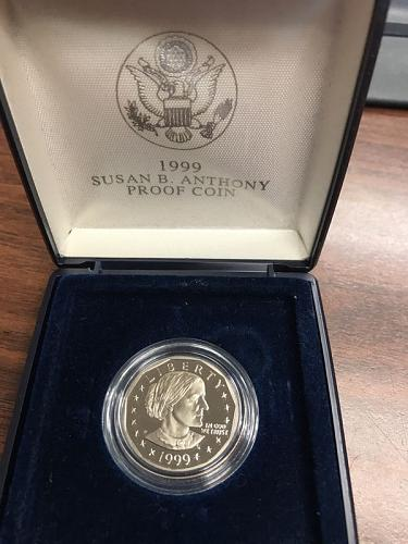 1999 P Susan B. Anthony dollar Proof