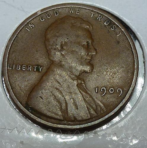 1909-P VERY Fine Lincoln Wheat Cent ( # 4101)