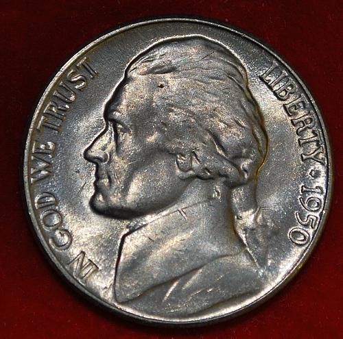 1950 D Jefferson Nickels