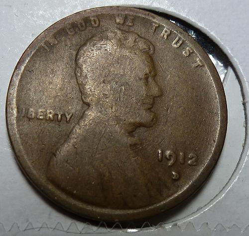 1912-D Good Lincoln Wheat Cent ( # 4109)