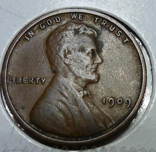 1909-P VDB Extra Fine  Lincoln Wheat Cent ( # 4152)