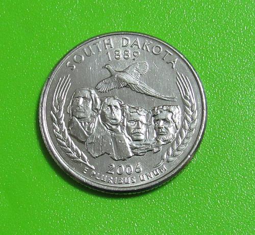 2006-P 25 Cents - South Dakota State Quarter