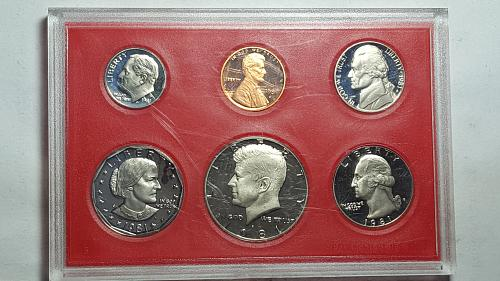 1981-S Proof Variety Type 2 Clear 'S' and Flat Deep Cameo All 6 Coins BU
