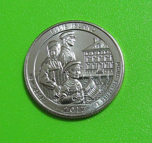 2017-D 25 Cents  Ellis Island New Jersey National Parks America the Beautiful Qu