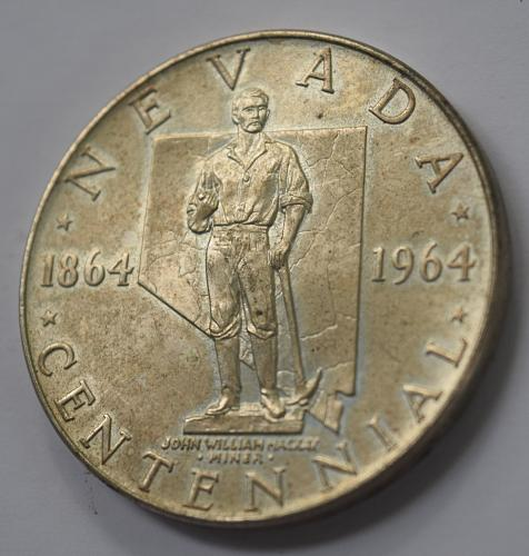 1964 Nevada Statehood Centennial Silver Medal