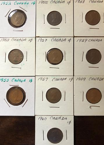 General: Foreign and World Coins - Canadian