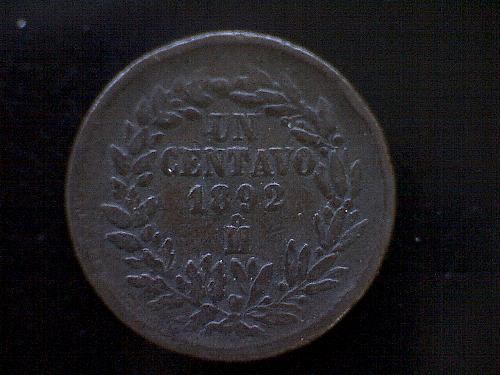 1892 MEXICO  ONE CENTAVO