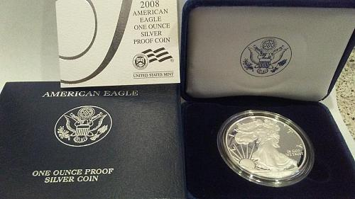 2008 American Eagle One Ounce Silver Proof Coin