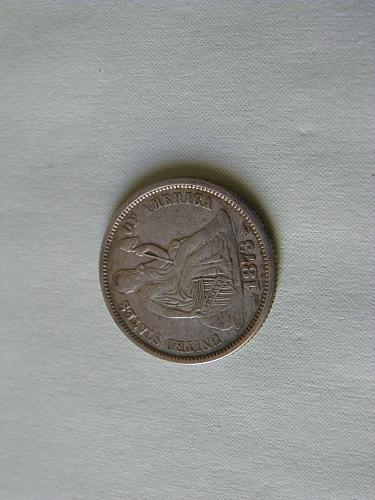 1873 Seated Liberty Dime (Variety 5)