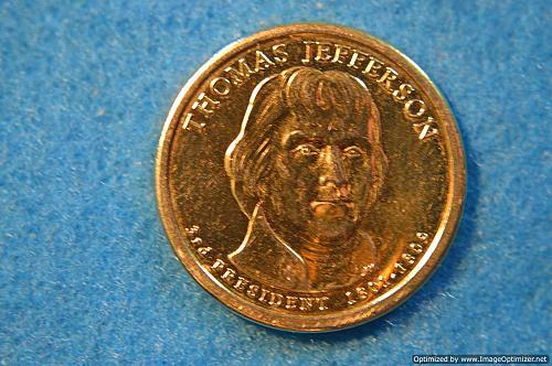 2007 P Presidential Dollars: Thomas Jefferson