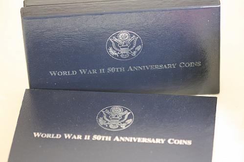 1991- 1995 Proof World War II 50th anniversary commemorative Silver Dollar
