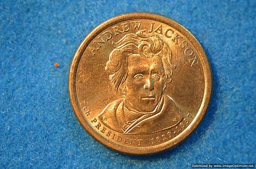 2008 D Presidential Dollars: Andrew Jackson