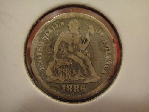 1886 Seated Liberty Dime Very Good-8
