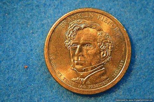 2010 P Presidential Dollars: Franklin Pierce