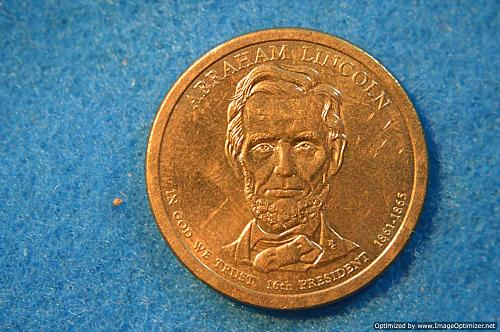 2010 P Presidential Dollars: Abraham Lincoln