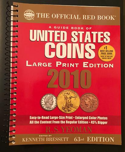 Untied States Coins 2010 LARGE PRINT Official Red Book