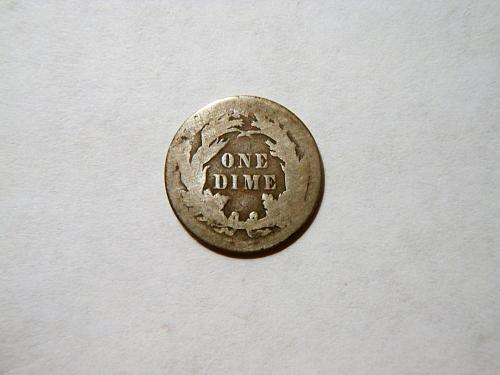 1887-P Silver Seated Liberty Dime
