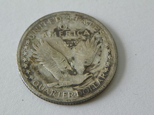 1917 US 90% Silver Standing Liberty Variety 1 Quarter Dollar