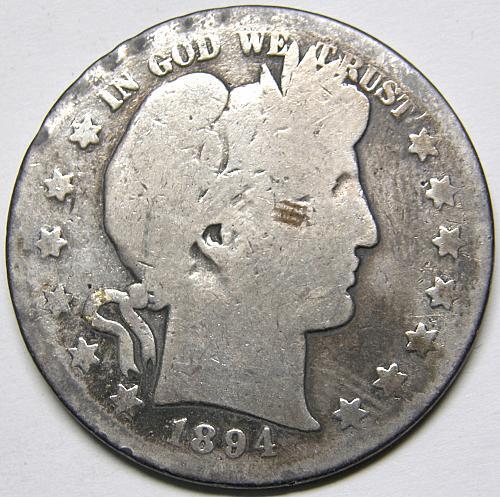 1894 S Barber Half Dollar#1