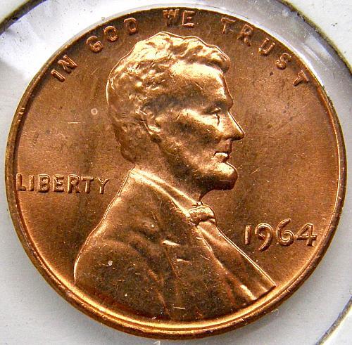 1964 P Lincoln Memorial Cent#5