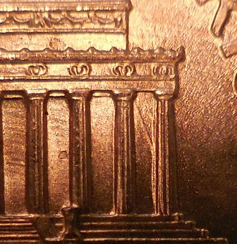 2001-P Lincoln Cent Misaligned Die Error