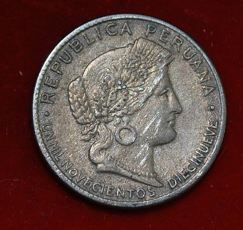 peru 5 centavos 1919