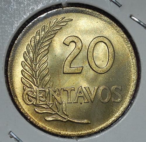 peru 20 centavos 1960