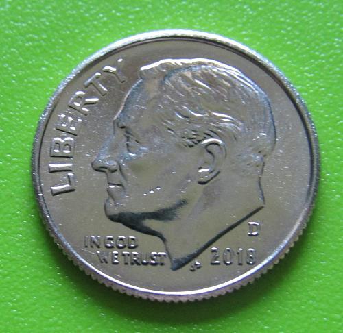 2018-D 10 Cents - Roosevelt Dime